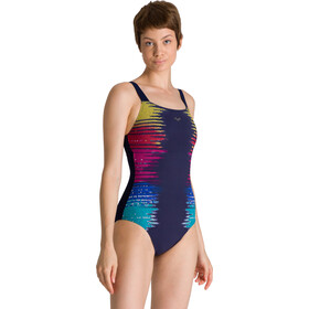 arena Naomi Wing Back One Piece Badpak Dames, navy/navy